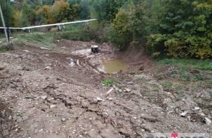 В Смоленске закопали приток реки, чтобы построить многоэтажку