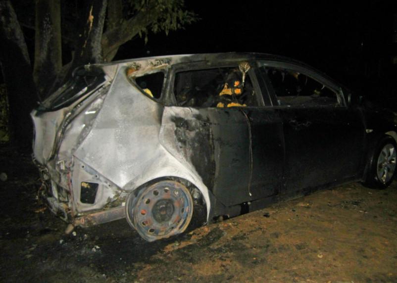 В Сафонове ночью пожарные тушили иномарку