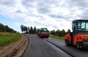 В Хиславичском районе продолжается ремонт дороги