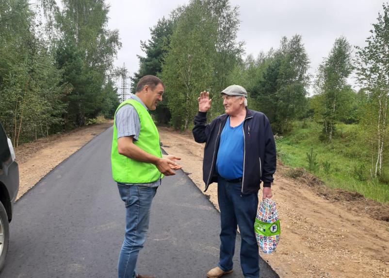 К смоленской деревне отремонтировали подъездную дорогу