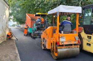 В Заднепровском районе Смоленска ремонтируют улицу Госпитальную