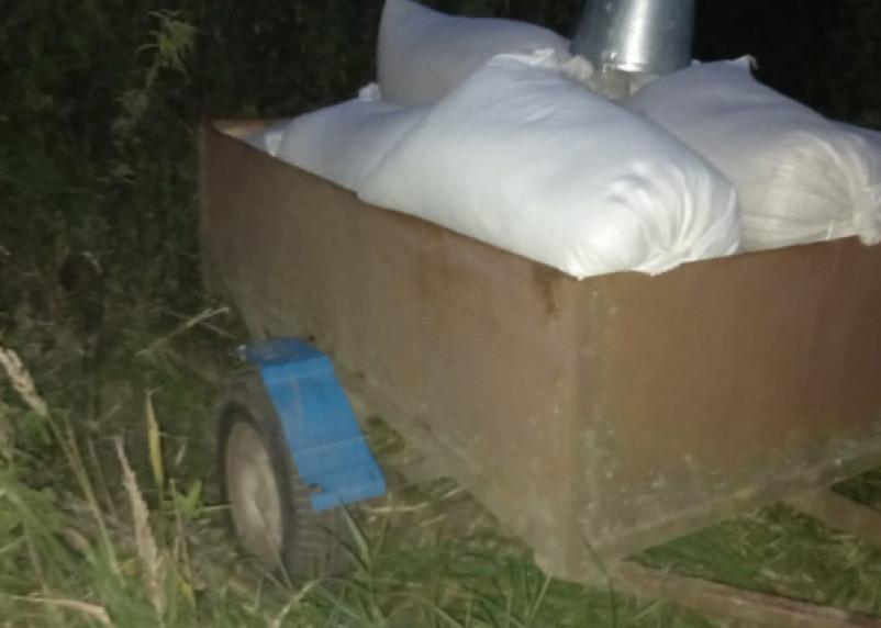 Двое смолян украли почти тонну зерна с поля предприятия
