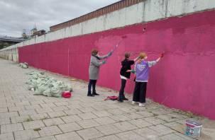 Набережную Смоленска начали готовить к международному фестивалю граффити