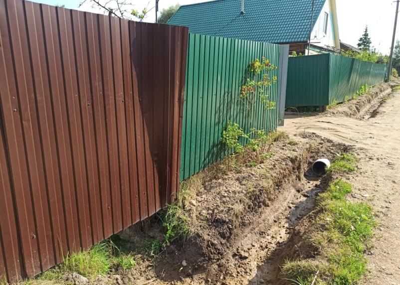 В Новодугино решили проблему с подтоплением земельных участков