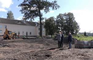 На благоустройство сквера у ДК «Сортировка» в Смоленске вышел новый подрядчик
