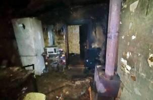 В пожаре пострадала пожилая женщина