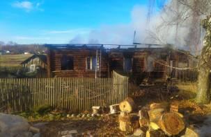 В Духовщинском районе в пожаре погиб мужчина
