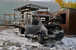 В Смоленске загорелась автомашина «Газель»