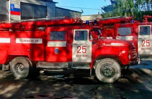 В Дорогобуже утром огонь уничтожил жилой дом
