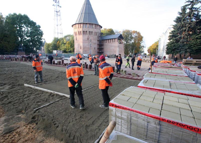В Смоленске завершается ремонт на улице Октябрьской революции
