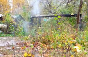 «Фонтан кипятка». В Смоленске произошла коммунальная авария?