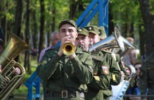 На площади Ленина в Смоленске прошла первая репетиция Парада Победы-2018