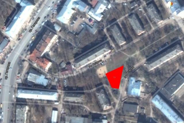 Участок на бульваре Гагарина, где скоро появится гостиница