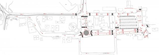 Новая схема движения на Колхозной площади