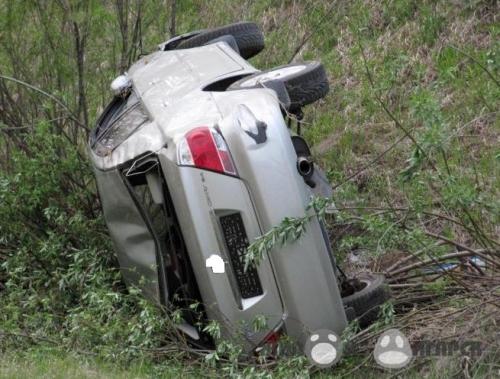 ВНоводугинском районе авто вылетело вкювет. Пострадали два человека
