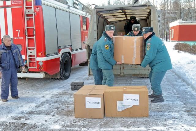 ИзСмоленска выехала машина сновогодними подарками для детей Донбасса