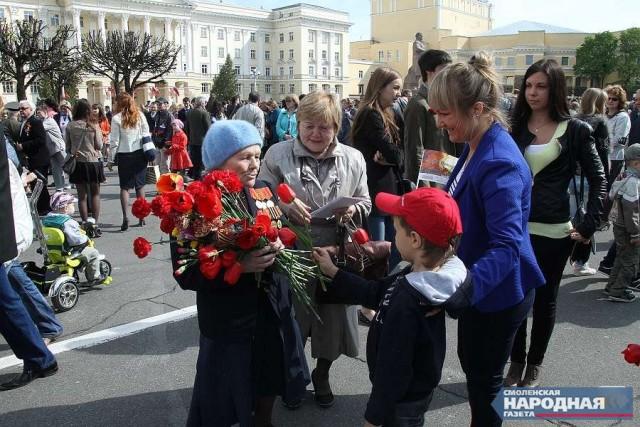 Смоленск— один изсамых известных городов утуристов наДень Победы