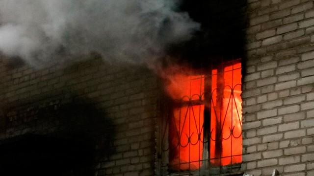 Наулице Урицкого вСмоленске— пожар накухне, пострадал человек