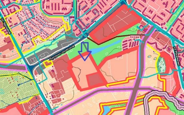 Фрагмент исправленного генплана города Смоленска
