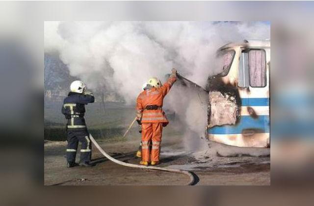 ВДубровском районе зажегся рейсовый автобус