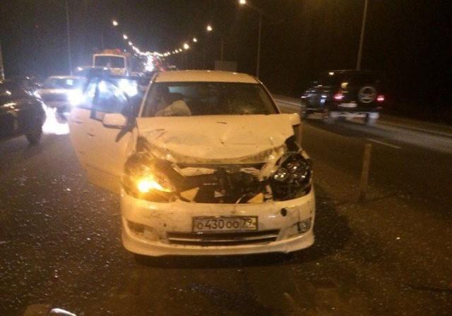 ВСмоленске случилось жёсткое ДТП с4 машинами наРославльском шоссе