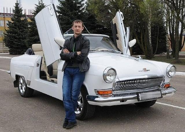 Смоленский умелец преобразил «Волгу» встильный кабриолет