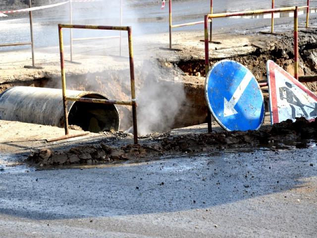 В Смоленске из-за порыва водопровода жители Киселевки остались без воды