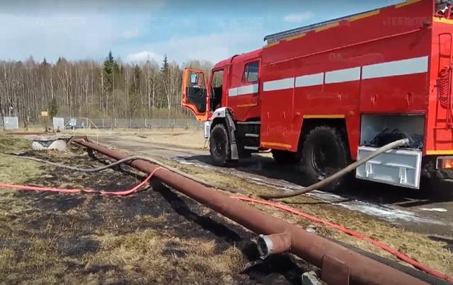 ВСмоленской области воспламенился резервуар сгорючим