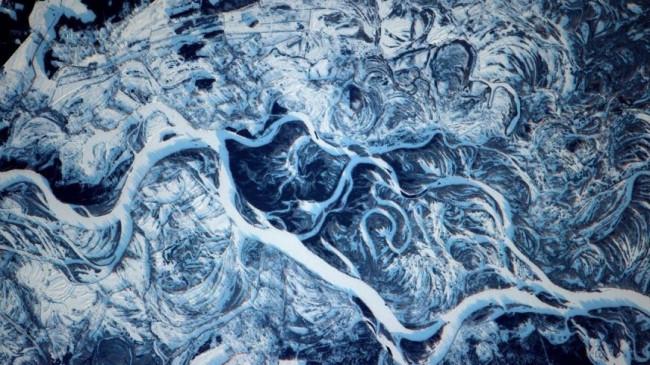 Фото заснеженного красноярска из космоса