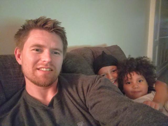 Дима с Ритиными детьми