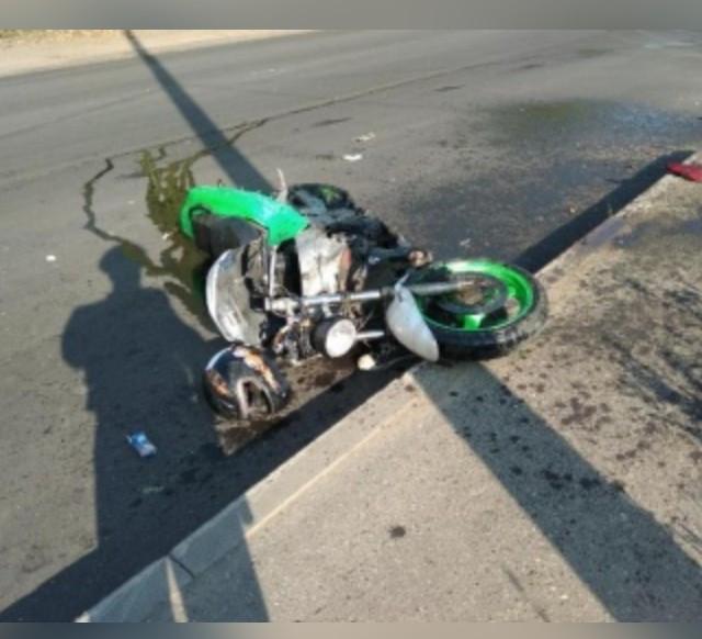 В Смоленской области водитель автобуса снес мотоциклиста