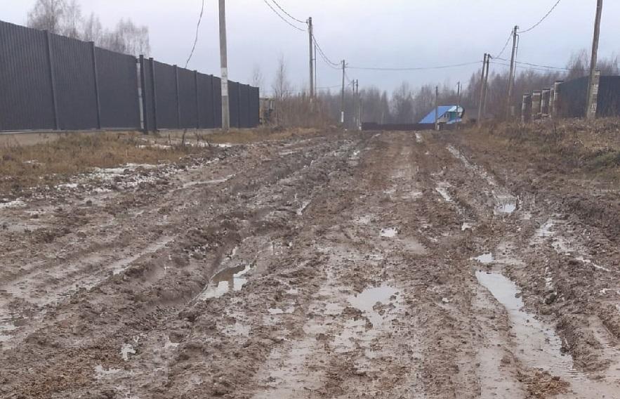 Обращения к президенту и в ОНФ не помогли. Мать двоих детей жалуется на убитую дорогу в Смоленском районе