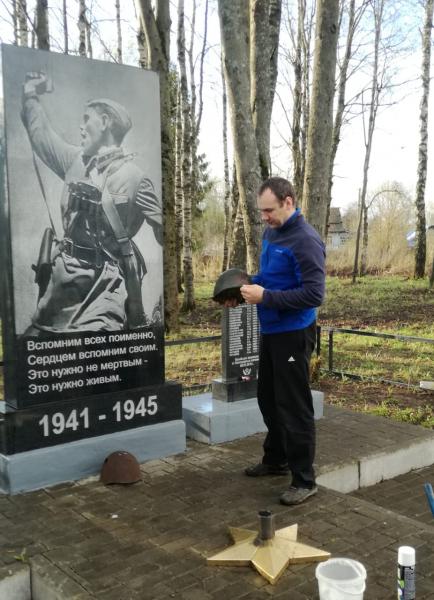 В деревне Радкевщина благоустроили воинское захоронение