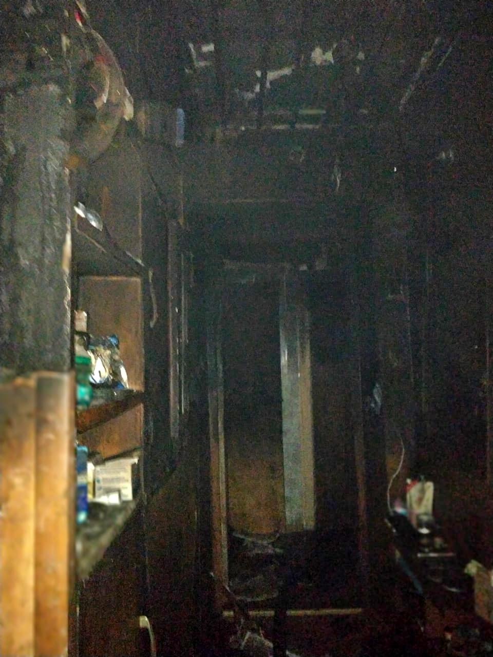 Кухню заволокло дымом. Появились подробности пожара в Рудне