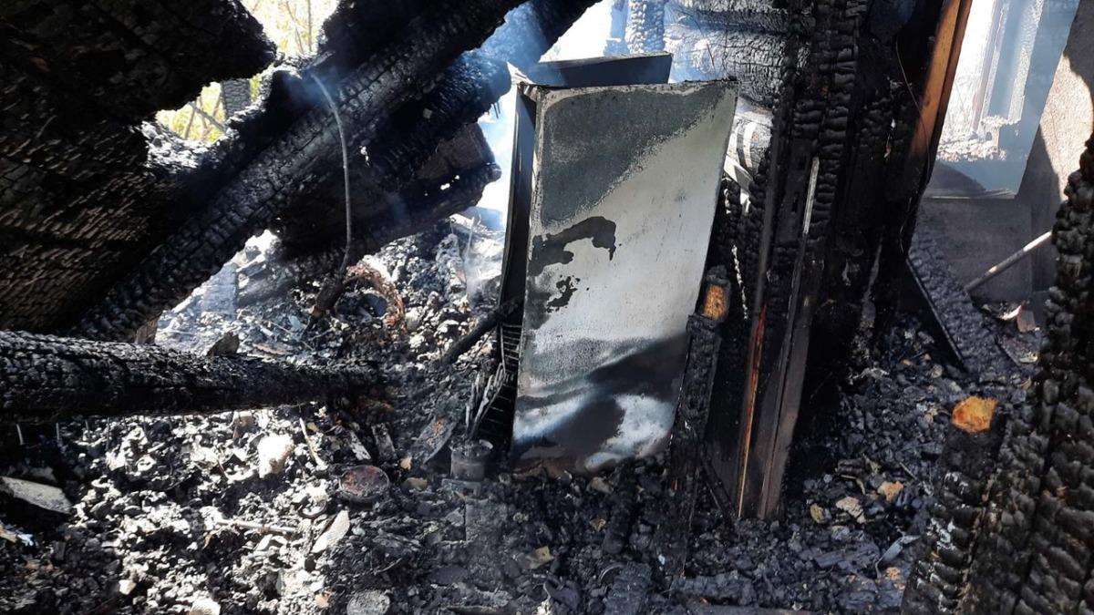 Огненная стихия полностью уничтожила дом в Вяземском районе
