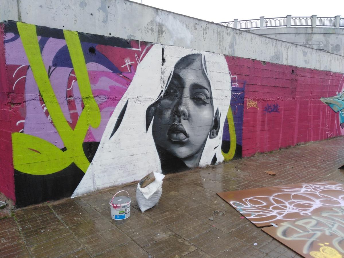 Набережный стрит-арт. Зачем уличным художникам отдали почти километр стены на берегу Днепра